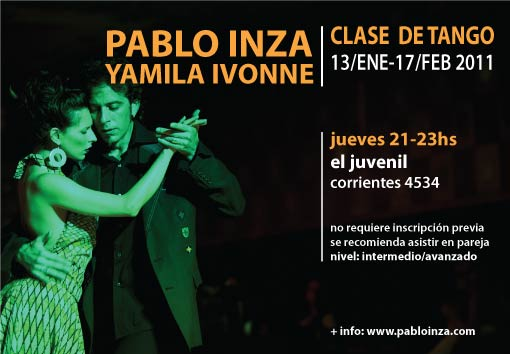 clase de tango - pablo inza + yamila ivonne