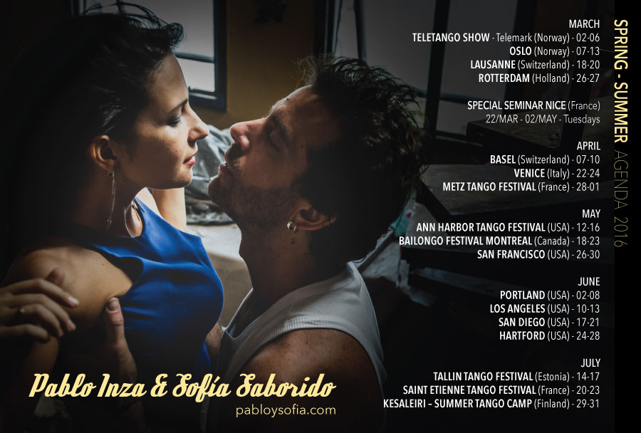Pablo Inza & Sofia Saborido - Agenda 2016